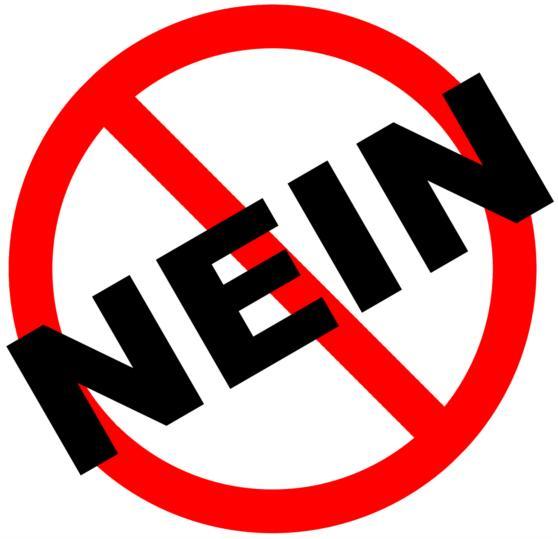 Nein - Symbol